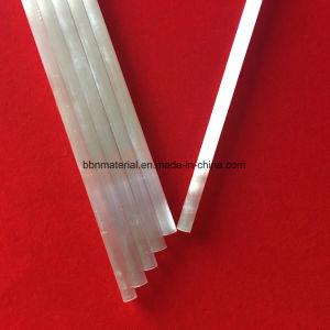 Entramba l'estremità apre il tubo di vetro bianco del quarzo della perla