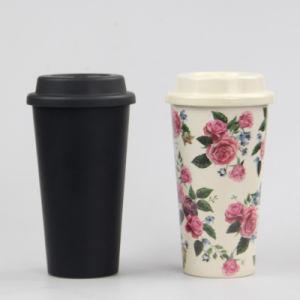 يصحّ [فوود غرد] أسود لون لين خيزرانيّ مادّيّة قهوة شاي شراب فنجان مع تغطية