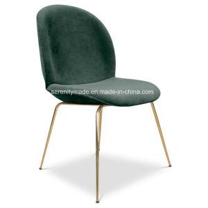 レプリカのカブトムシ金ステンレス鋼の足を搭載する椅子を食事するスタック可能ファブリックビロード