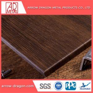 Comitato di alluminio del favo di colore di legno per la decorazione della parete divisoria