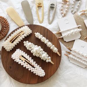 Perla di cristallo Hairclip del fiore degli accessori dei monili dei capelli di modo per le donne