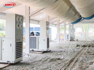 Unidades de refrigeração no exterior das estruturas de tecido tenda