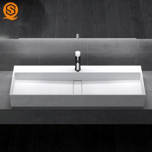 Superfície sólida Stone pia do banheiro Banheiro Lavatório