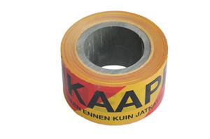 De rode en Gele Band van de Voorzichtigheid van de Kleur voor Barricade van het Gebruik van de Waarschuwing Band