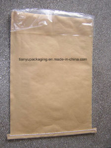 Коричневый притачным эластичным поясом открытым ртом крафт-бумажные мешки с пленки PE