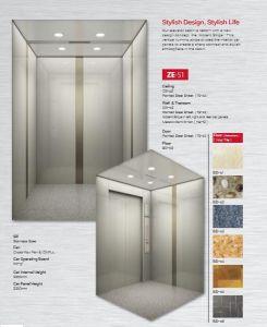 La pequeña sala de máquinas, elevador de pasajeros fabricados en China