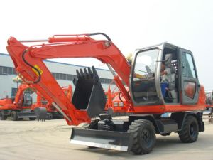 Excavadora de ruedas 7.0t miniexcavadora