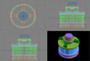 수력 전기 터빈 Generator/3D 모형