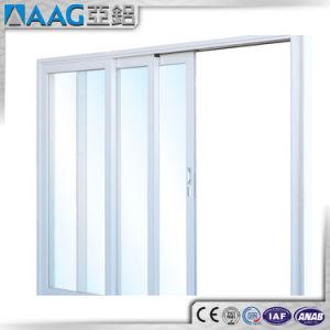 Portello scorrevole di vetro di alluminio della prova del suono di disegno moderno doppio