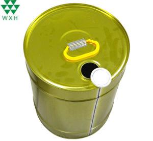 18L'huile moteur peut lubrifiant vide tambour à huile à trou rond en métal de rétrécissement de l'étain métal du tambour de godet Seau avec couvercle en plastique