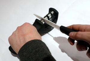 Qualidade profissional, Manual, o afiador da Lâmina da Faca de 3 estágios para aperfeiçoar o processo de cerâmica, aço e afiador de facas de metal, Ferramenta de cozinha10142 ESG