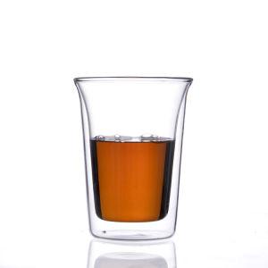 Ab58b86 double paroi en verre résistant à la chaleur du thé/café/lait/Beer Cup/set/mug