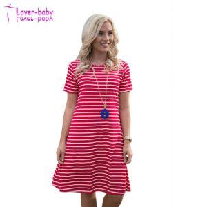 Damas entre las líneas casual vestido corto (L2003)