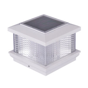 Leales SIN CABLES LED Solar producto Solar Piscina 4x4 pulgadas 5X5 3.5 4.5 5.5 La Energía Solar de cerco decorativo blanco de la tapa posterior de la luz solar jardín