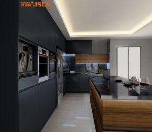 Muebles de cocina de moderno diseño en color gris mezcla de estilo ...
