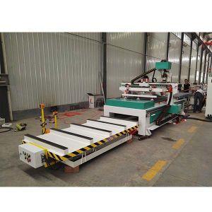 Carregamento automático de descarga Router CNC ATC para o trabalho da madeira