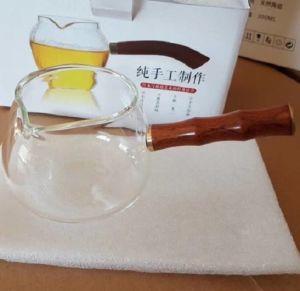 ギフトのためのハンドルが付いているハイエンドガラスビンの茶鍋