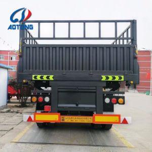 Aotong halb Schlussteil-Typ Zaun-Ladung-Schlussteil mit seitlichen Wänden