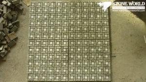 De gemengde Tegels van het Mozaïek van de Lei van de Kleur voor de Decoratie van de Muur (mm064)