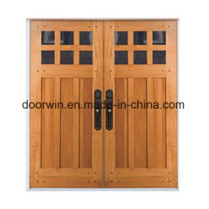 Portello di entrata di legno solido con Sidelite, portello dell'artigiano