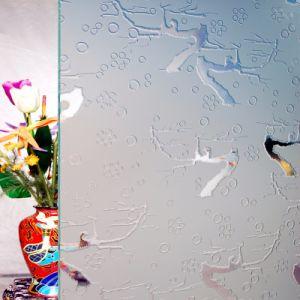 3mm, Glas van de Kunst van de Decoratie van het Glas van het Patroon van 5mm het Diepe