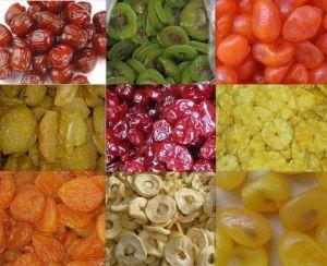 Сушеных фруктах: киви, Apple кольцо, клубники Kumquat, вишни.