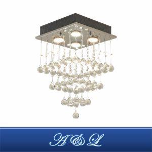 Design moderno 4 Luz de candeeiro de tecto decorativa do Crystal para o corredor, quarto, sala de estar, cozinha e sala de jantar (crómio)