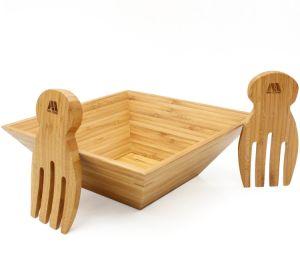 Salada de bambu Taça com que servem as mãos