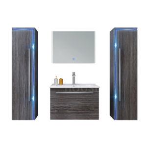 Casa de Banho da placa de melamina vaidade Mobiliário Gabinete Home Use para o Total de pacotes de HS-E1101