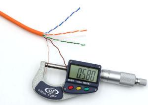1000FT 4 UTP CAT6 des LAN-Kabel-festen blank kupfernen elektronischen Paare Kabel-orange LSZH