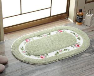 Polyester imprimé Fabric-Felt Shaggy tapis tissé