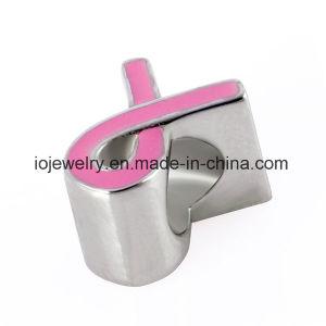 분홍색 사기질을%s 가진 도매 대중적인 금속 보석 구슬