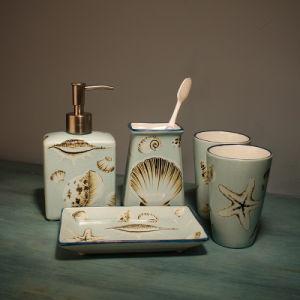 Accessoires de salle de bain en céramique de haute qualité définie pour la maison