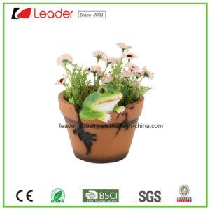Resina de alta calidad jardín de flores escarabajo de la Olla con estatua de la decoración del hogar y decoración exterior