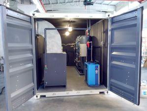 Gerador de oxigênio médicos com estação de enchimento do cilindro no recipiente móvel