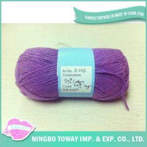 Hat acrílico malha de Inverno Mão Knittng fio com Lurex