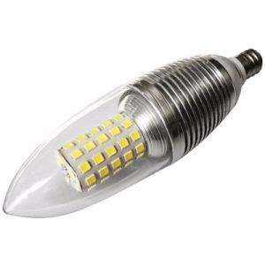 E14ランプのアダプターヘッド暖かい白9Wの内腔AC 2835 LED蝋燭の球根ライト