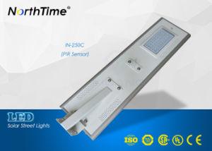 Sensor de movimiento infrarrojo de 50W Lámpara solar Calle luz LED
