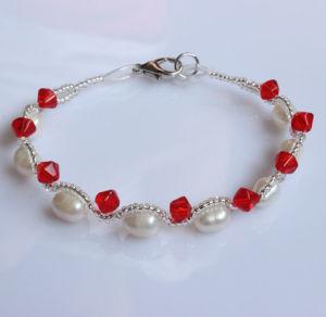 Preiswerte Form-echte Perle-Frischwasserarmband (EB1512-1)