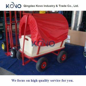Kids를 위한 Drag 나무로 되는 정원 Cart Wagon