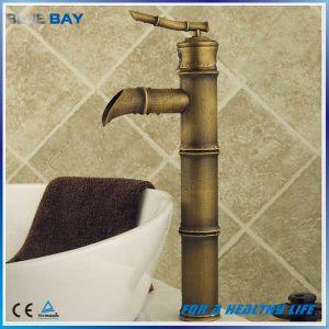 Bronze antique du bassin de bambou robinet en laiton