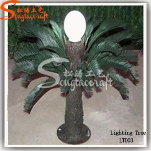 Venda por grosso de luz LED de luz artificial Palmeira de plástico