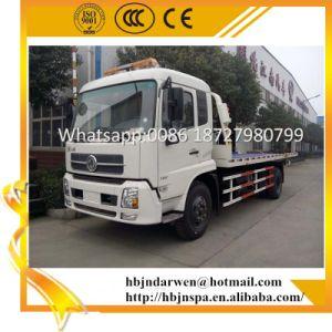 Dongfengテンシンの5tonクレーンが付いている平面レッカー車