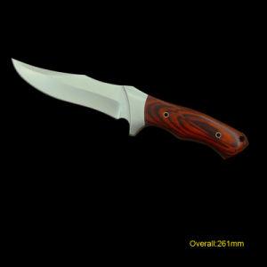 Fixed-Blade cuchillo con mango de madera (#3226)