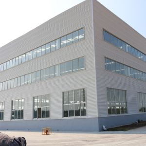 Estructura de acero de la luz de edificio de la sala de exposiciones de coches