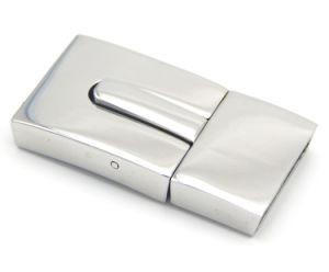 Monili all'ingrosso che trovano il catenaccio piano magnetico dell'acciaio inossidabile di colore dell'oro per il braccialetto di cuoio