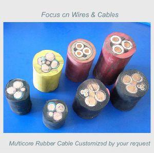 Résistant au feu RoHS de fil de cuivre souple PVC isolés en caoutchouc de la soudure électrique par câble électrique de commande de l'exploitation minière