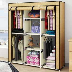 Tissu pliable portable Armoire chambre à coucher avec cadre en métal ...