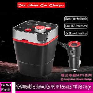 AC-A28 en modo manos libres coche Bluetooth Transmisor FM MP3 con cargador USB