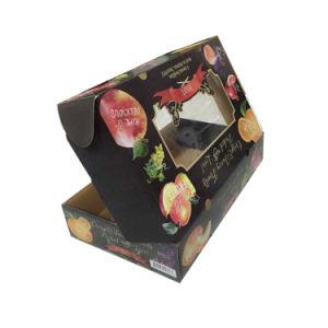 زاويّة يطبع ورق مقوّى يعبّئ ثمرة صندوق مع [بفك] نافذة